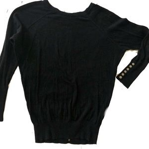 Sweater with Silver Button Detail